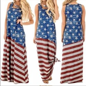 Dresses & Skirts - SMALL ONLY Patriotic sleeveless maxi dress